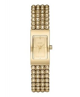 DKNY Watch, Womens Gold tone Stainless Steel and Crystal Bracelet