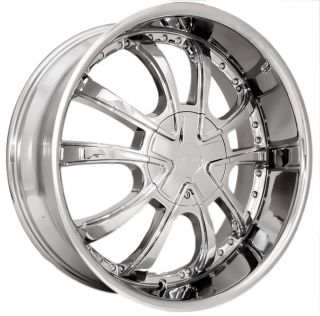January 2013 Sale 22 Starr 719 Chrome Wheels Rims Tires Pkg 5x108