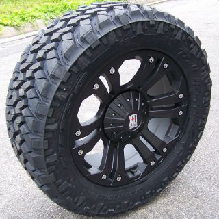 18 XD Monster Wheels Rim 35 Nitto Trail Grappler Tire Silverado 1500