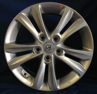 16 Hyundai Sonata 2012 OE Silver Wheels 2 Rims