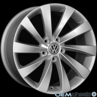 18 Silver Turbine Wheels Fits VW Golf Jetta CC EOS GTI Passat Audi A3