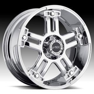 18 inch 6x5 5 Chrome V Tec Warlord Wheels Rims 6 Lug Tahoe 1500 Yukon
