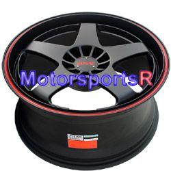 17 17x7 17x9 XXR 962 Black Staggered Rims Wheels 87 88 90 91 Toyota
