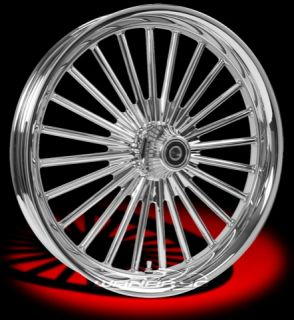 Colorado Custom Wheel Chrome Front Fat Spoke 21 x 3 5 Harley 00 12