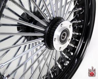Black 21 18 Wheels Fat Mammoth 48 Spokes Fit Harley Fatboy Softail