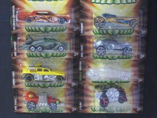 Hot Wheels 2008 Fright Cars Halloween 8 Car Set Mattel VGC