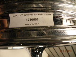 Chrome Billet Front Wheel Mag Harley Wide Glide Softail 84 99 21 Tri