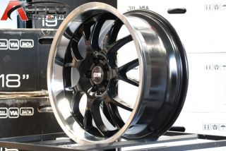 18 Str 604 LMR Style 5x100 Black Wheel Fit Audi TT Corolla Prius