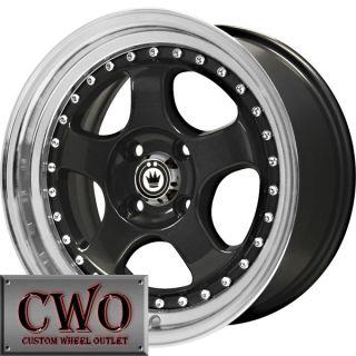 15 Black Konig Candy Wheels Rims 4x100 4 Lug Civic Mini Miata Cobalt