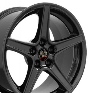 18 Rims Fit Mustang® Saleen Wheels Black 18x9 Set