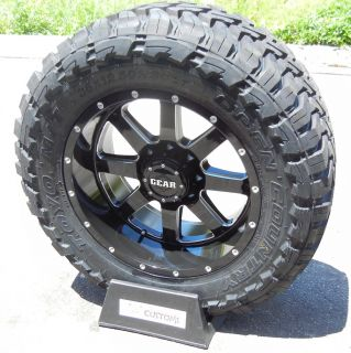 20 Black Gear Big Block Wheels 35 Toyo Opencountry MT Chevy GMC Dodge