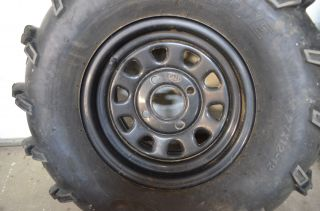 04 Yamaha Grizzly 660 Front Rear Wheels ITP Rims 27 Mud Lite Tires