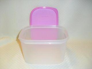 Tupperware Modular 8c Mini Deep Rectangle Pantry Food Storage New Pink