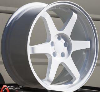 18x8 5 Varrstoen ES221 5x100 White Wheel Fit Subaru Impreza WRX Legacy