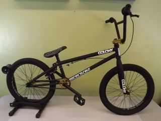 Colony Descendent BMX Bike 2011 Matte Black Gold New