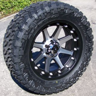 18 Black Machined XD Addict Wheels Rim 33 Nitto Trail Grappler Jeep