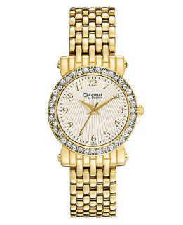Caravelle by Bulova Watch, Womens Gold Tone Bracelet 45L122   All