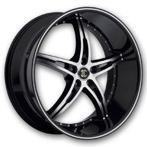 20 inch 2CRAVE NO14 Black Wheels Rims 5x4 5 350Z Coup 370Z Coup G37