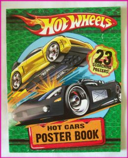HOT WHEELS   Awesome HOT CARS POSTER BOOK   NEW   23 Scorching Bright