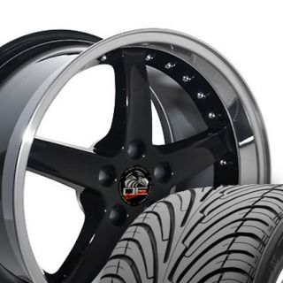 18 9 10 Black Cobra Wheels ZR Tires Rims Fit Mustang® GT 94 04