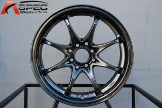 FIGHTER 8 4X100/114.3 +40 HYPER BLACK WHEEL FITS CIVIC INTEGRA DEL SOL