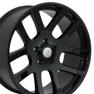 22 Black SRT Wheels Set of 4 22x10 Rims Fit Dodge RAM 1500