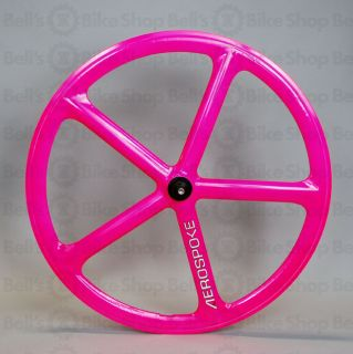 Aerospoke Track Front Wheel Hot Pink Non Machined Fixed