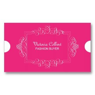 Pink Elegant Business Calligraphy Card Template Business Card Template