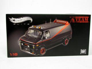 NIB Mattel Hot Wheels Elite A Team Van 1/18 Scale Die Cast Collectible