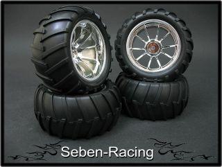 Monster Rims Tires Wheels MRF2 1 10 Offroad Pimp