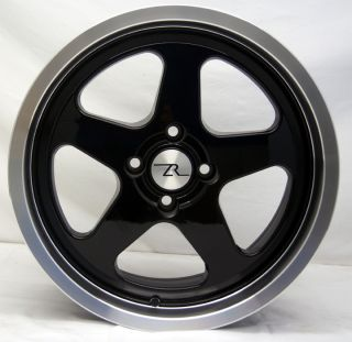 Mustang SC Style Wheels 17x9 fits Saleen 17 inch, 17, 4 lug rims