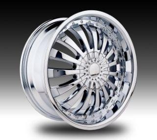 24 inch Velocity VW380 Chrome Wheels Rims 5x115 13