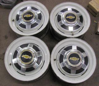 Chevy 3/4 Ton Truck 8 Lug 16X6.5 Wheels Rims Wi Center Caps Set of 4