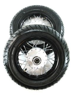 10 Motard Wheels Honda CRF50 XR50 Street Rims Wheels Tires 10 Inch