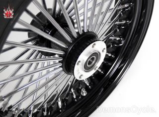 21 18 Wheels Fat Mammoth Black 48 Spokes for Harley Dresser FLH