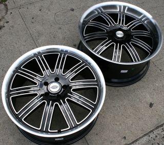 Huntington Springdale 22 Black Rims Wheels M35 Staggered 22 x 9 0 10