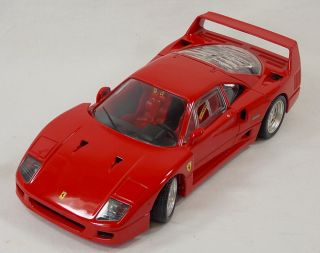 1999 1 18 Scale Hotwheels Red Ferrari F 40 Diecast Model Car