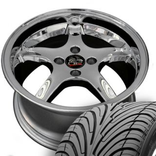 17 8 9 Chrome Cobra Wheels Nexen Tires Rims Fit Mustang® GT 79 93