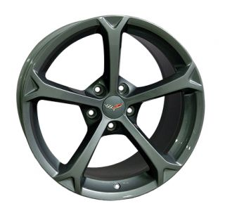 18 19 9 5 12 Gunmetal Corvette Grand Sport Wheels Z06 Rims Fit