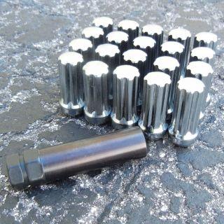 Chrome 14x1 5mm 5 Lug Spline Drive Install Kit Dodge Charger Magnum