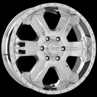 17x8 Chrome Wheel American Racing Fuel 5x6 5