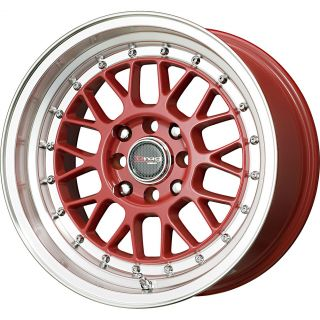 Drag Wheels Dr 44 15x8 25 4x100 4x114 3 ET25 Red Rims Civic Del Sol