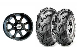 ITP SS108 Black 14 ATV Wheels on 27 Maxxis Zilla Tires Honda Rancher
