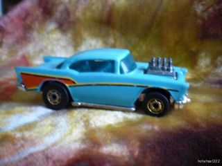 Hot Wheels from 1989 Classics 57 Chevy Turquoise Gold Wheels 1957
