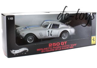 Hot Wheels W1181 Elite Ferrari 250 GT Berlinetta Corto SWB 1961 #14 1