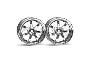 HPI Racing RC Car 1 10 Scale Rays Gram Lights 57s Wheel Chrome 26mm