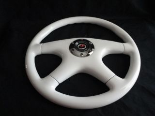 New 15 White Wood Grain Steering Wheel