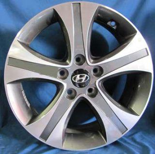 17 Hyundai Elantra 2012 OE Silver Wheels 4 Rims