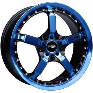 17 HD Tuning Cooldown Wheels Blue Rim Mustang Civic Caliber Fusion