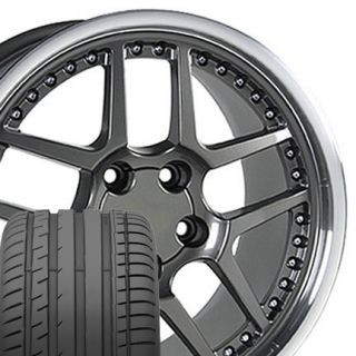 18 17 Gunmetal Fits Corvette ZO6 Style Wheels Tires Camaro Z06